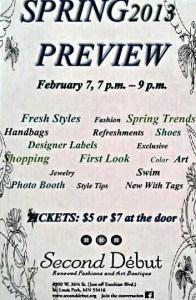 Spring Preview Flier